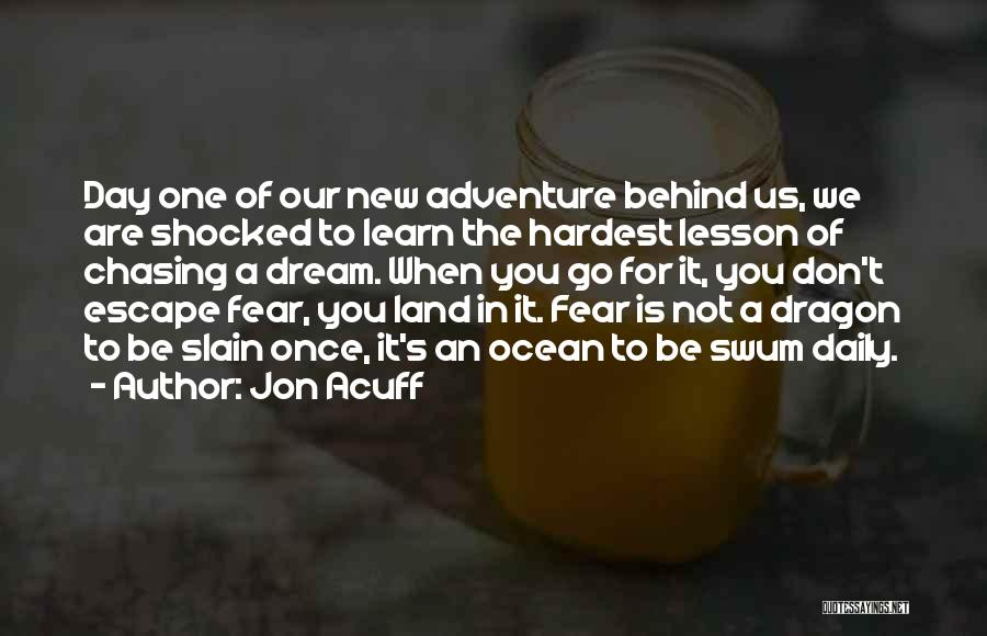 Not Chasing Dreams Quotes By Jon Acuff