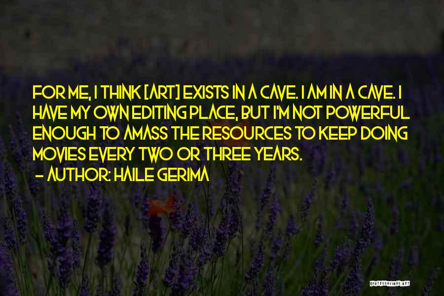 Not Doing Enough Quotes By Haile Gerima