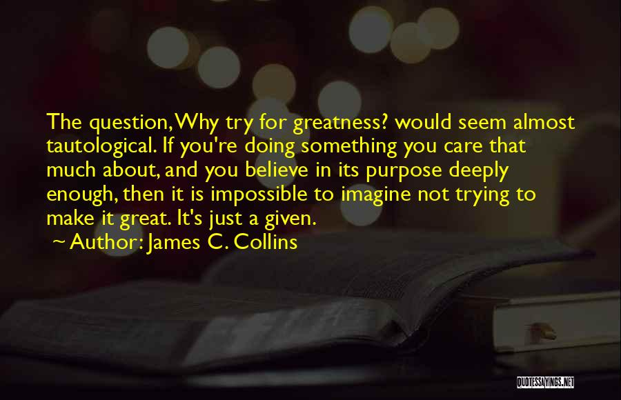Not Doing Enough Quotes By James C. Collins