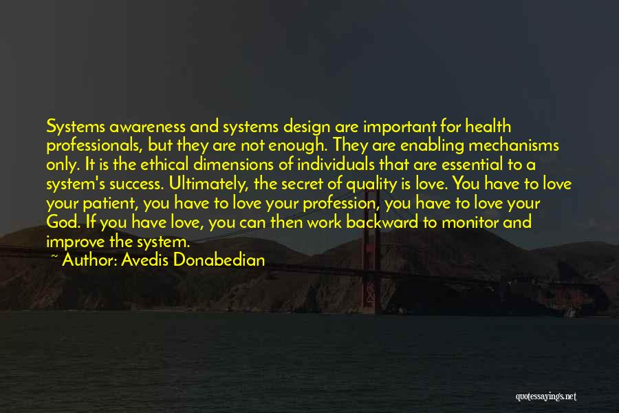 Not Enabling Quotes By Avedis Donabedian