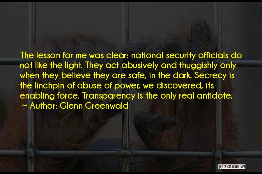 Not Enabling Quotes By Glenn Greenwald