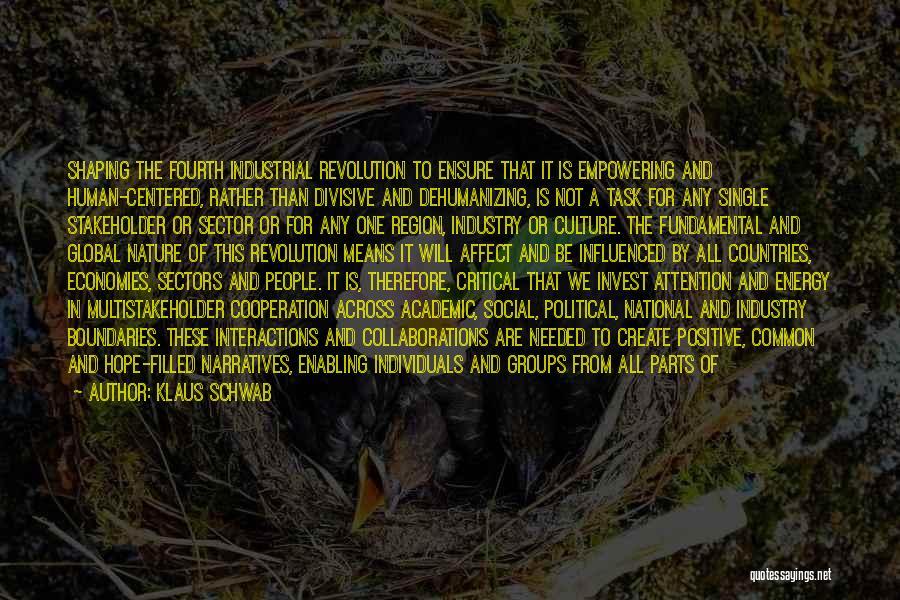 Not Enabling Quotes By Klaus Schwab