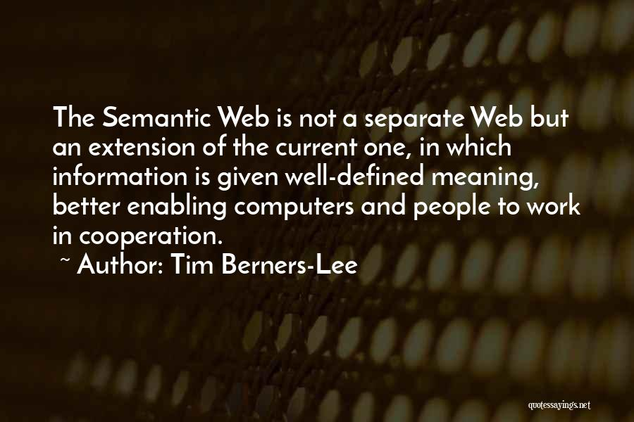 Not Enabling Quotes By Tim Berners-Lee