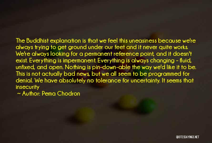 Not Everything Seems Quotes By Pema Chodron