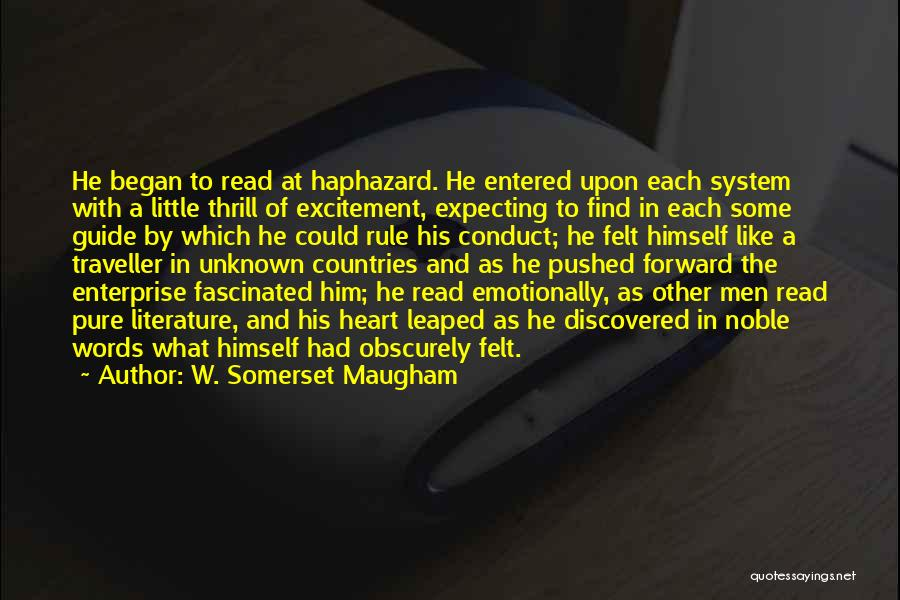 Not Expecting Things From Others Quotes By W. Somerset Maugham