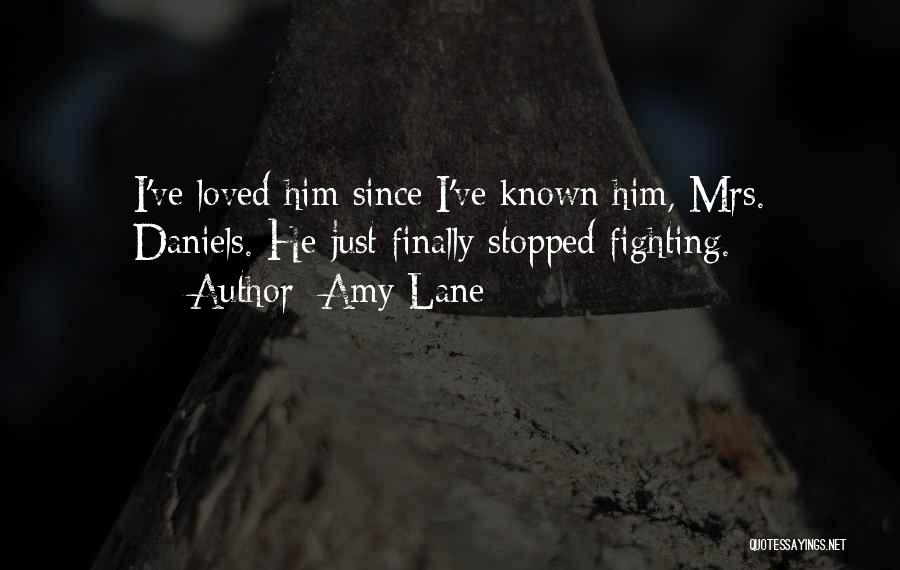 Not Fighting In Relationships Quotes By Amy Lane