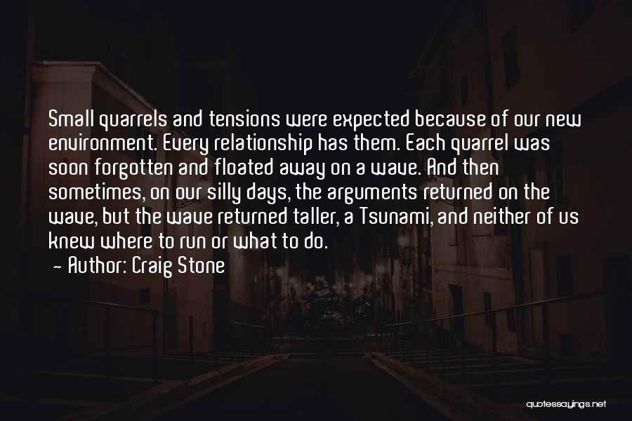 Not Fighting In Relationships Quotes By Craig Stone