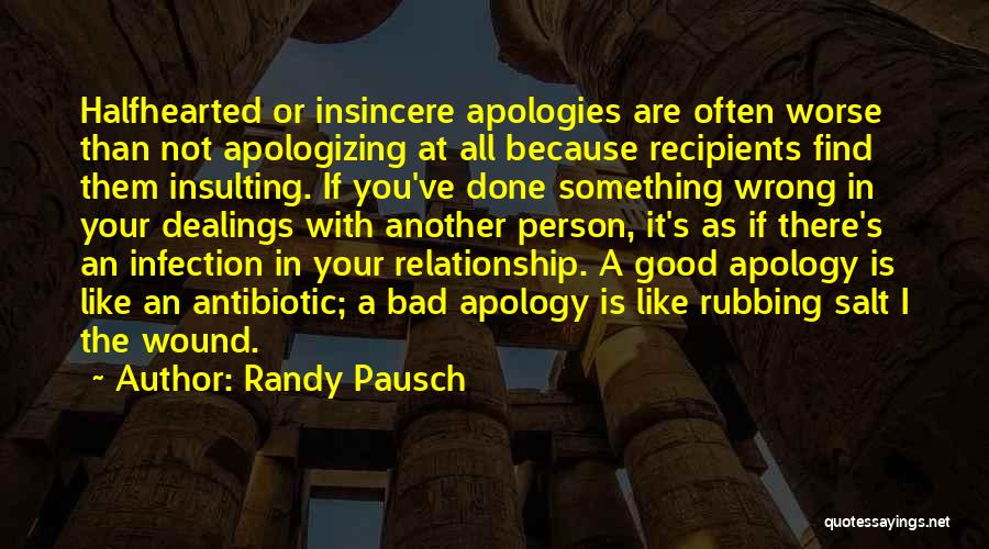 Not Fighting In Relationships Quotes By Randy Pausch