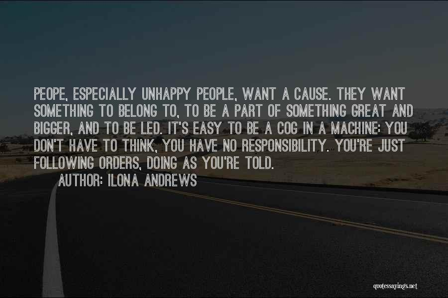 Not Following Orders Quotes By Ilona Andrews