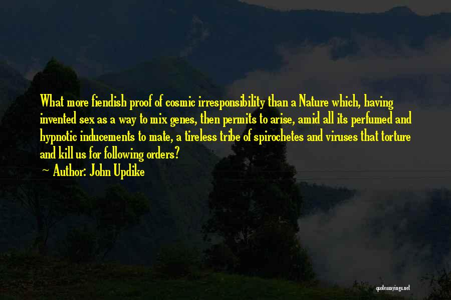 Not Following Orders Quotes By John Updike