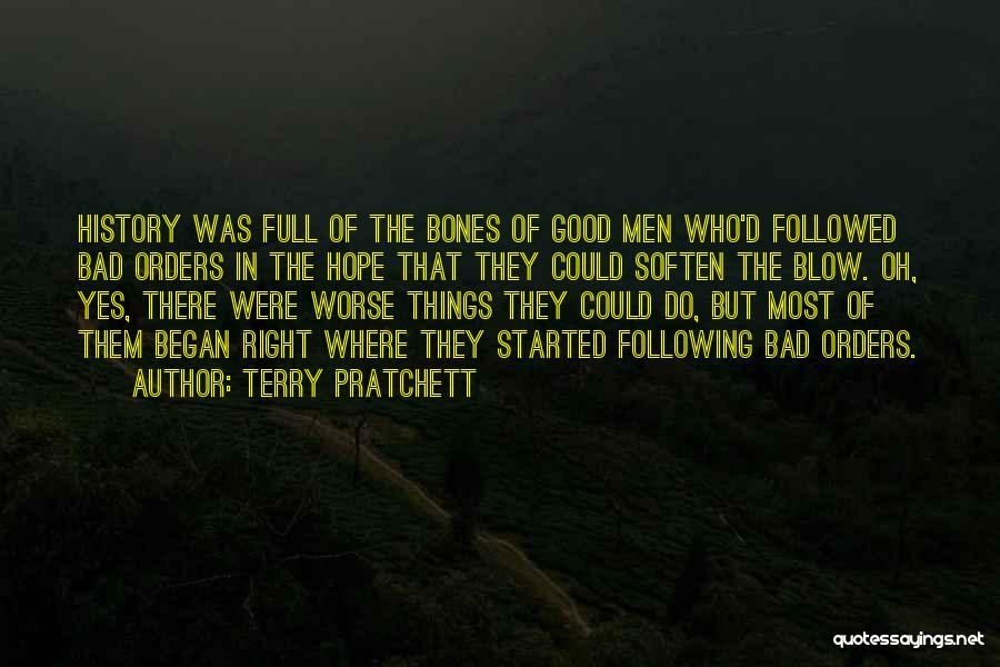 Not Following Orders Quotes By Terry Pratchett