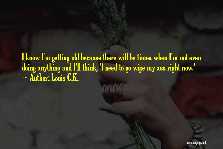 Not Getting Anything Right Quotes By Louis C.K.