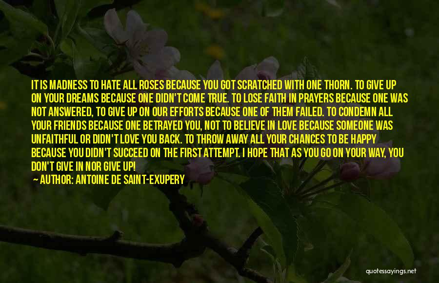Not Give Up On Love Quotes By Antoine De Saint-Exupery