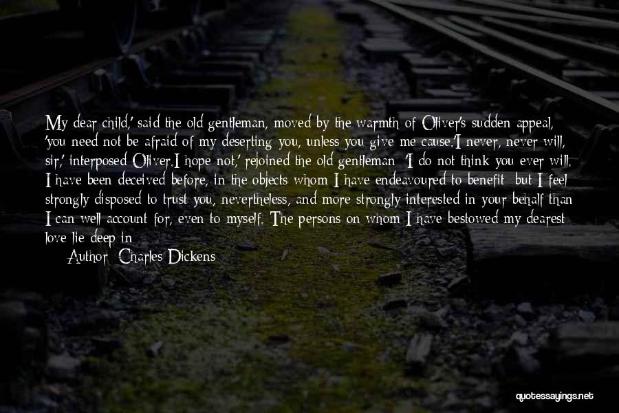 Not Give Up On Love Quotes By Charles Dickens