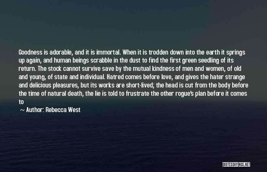 Not Give Up On Love Quotes By Rebecca West