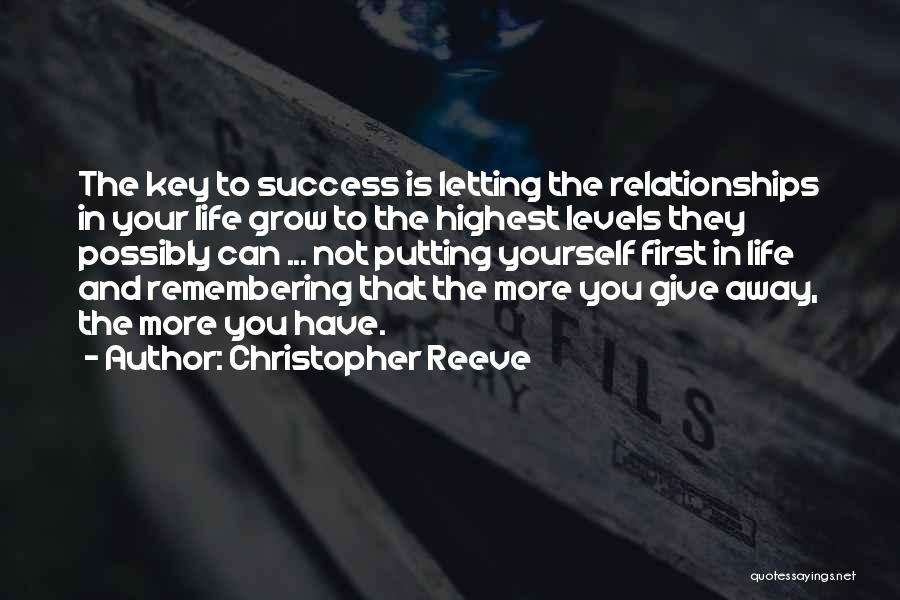 Not Giving Up On Relationships Quotes By Christopher Reeve
