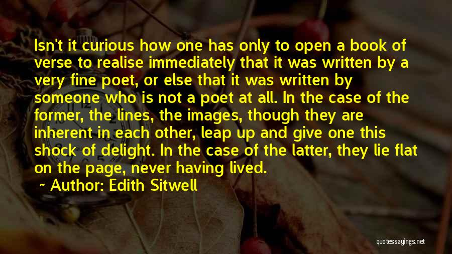 Not Giving Up On Someone Quotes By Edith Sitwell