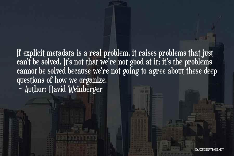 Not Going Good Quotes By David Weinberger