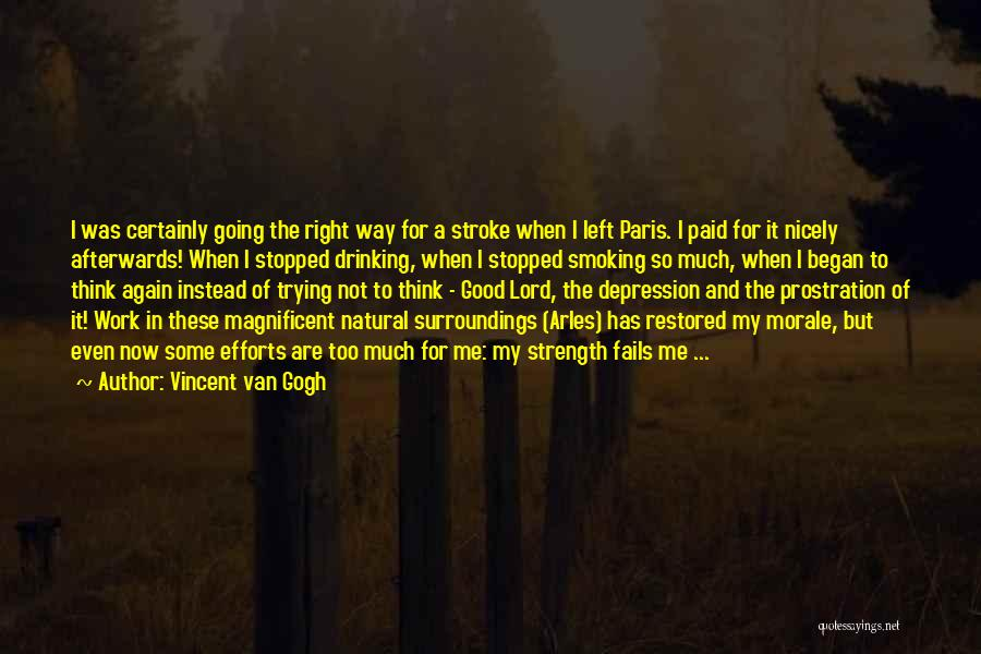 Not Going Good Quotes By Vincent Van Gogh
