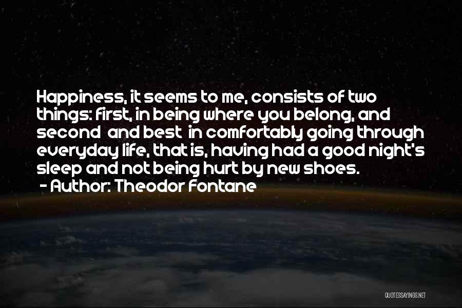 Not Going To Hurt Me Quotes By Theodor Fontane