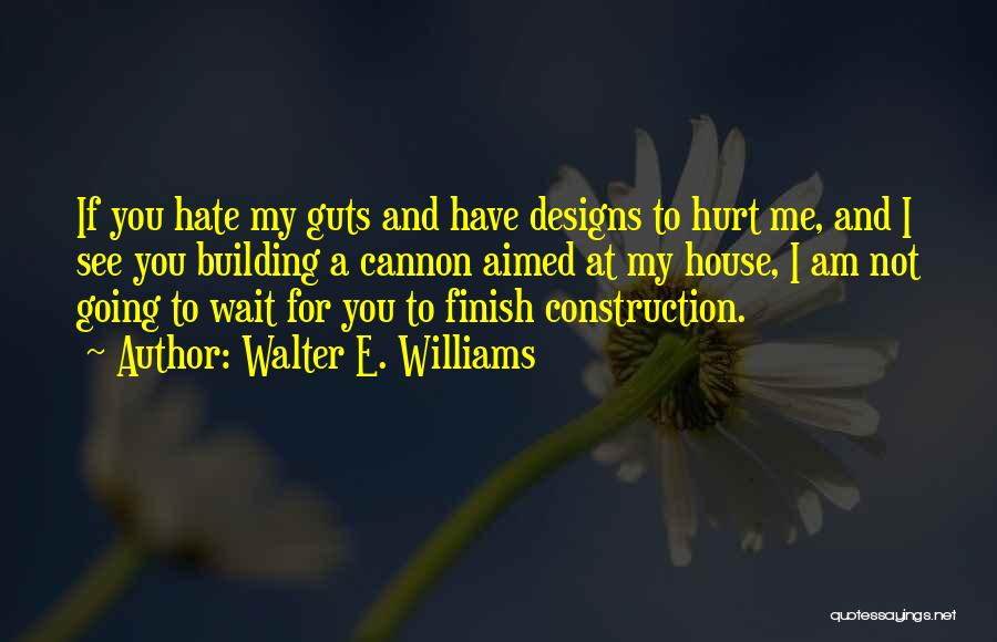 Not Going To Hurt Me Quotes By Walter E. Williams