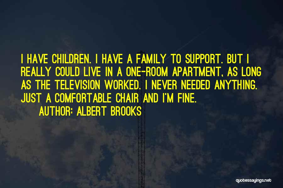 Not Having Family Support Quotes By Albert Brooks