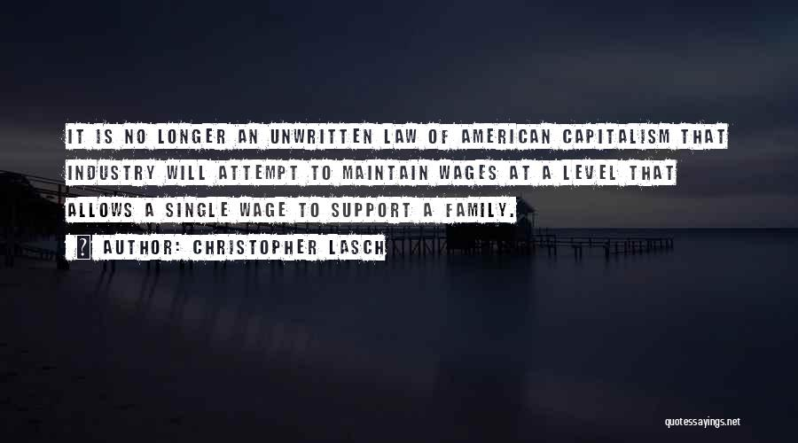 Not Having Family Support Quotes By Christopher Lasch