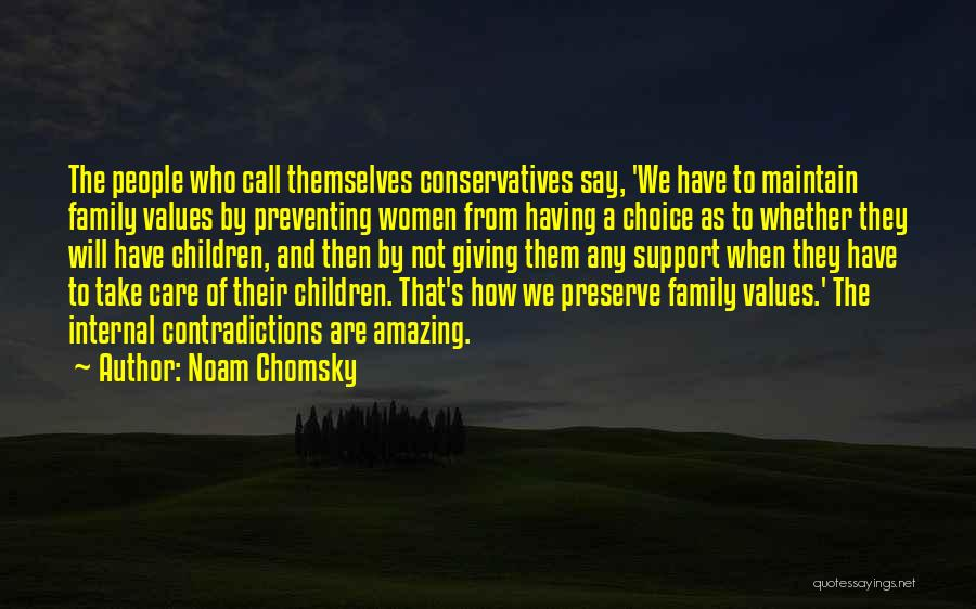 Not Having Family Support Quotes By Noam Chomsky