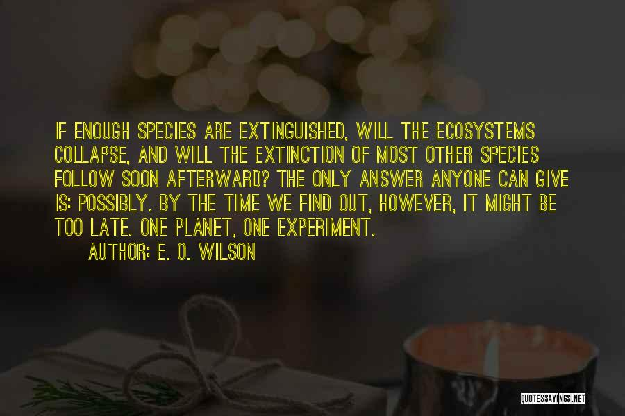 Not Having To Answer To Anyone Quotes By E. O. Wilson