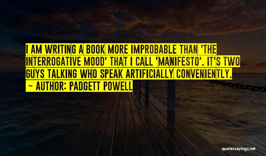 Not In The Talking Mood Quotes By Padgett Powell