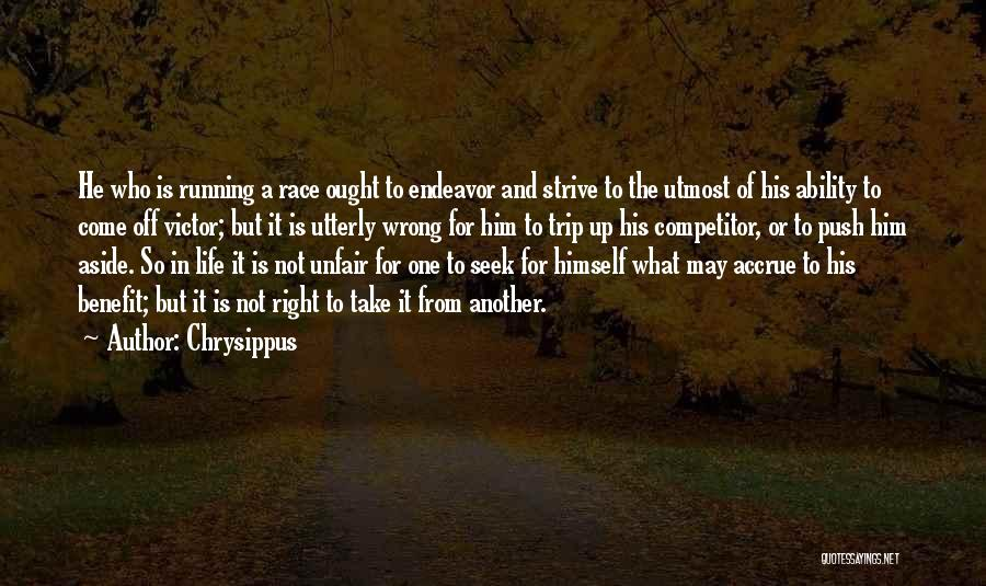 Not In The Wrong Quotes By Chrysippus