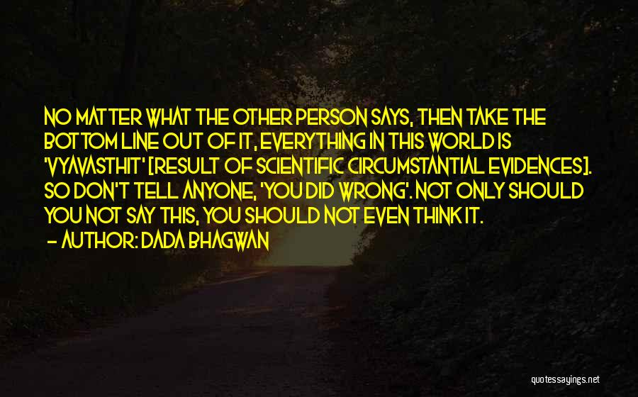 Not In The Wrong Quotes By Dada Bhagwan
