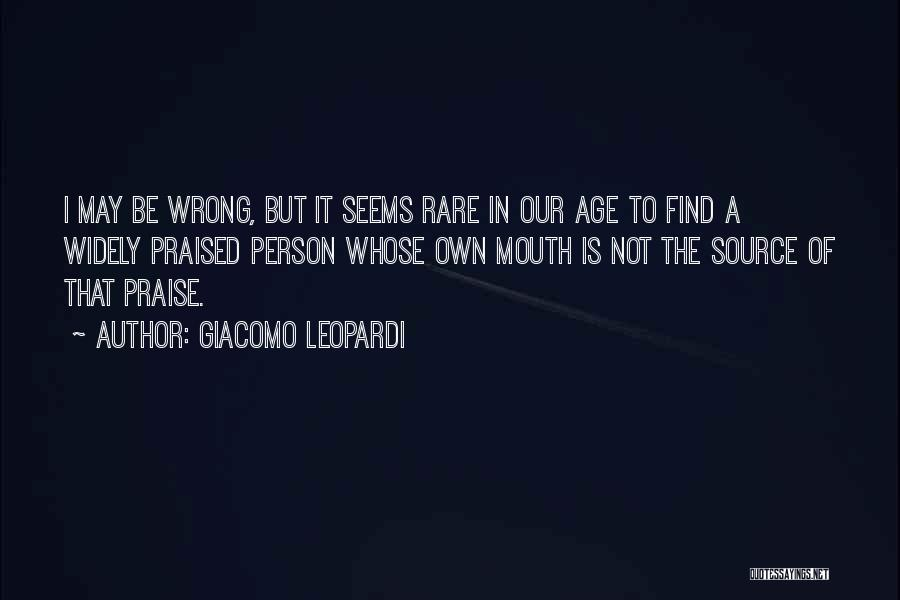 Not In The Wrong Quotes By Giacomo Leopardi