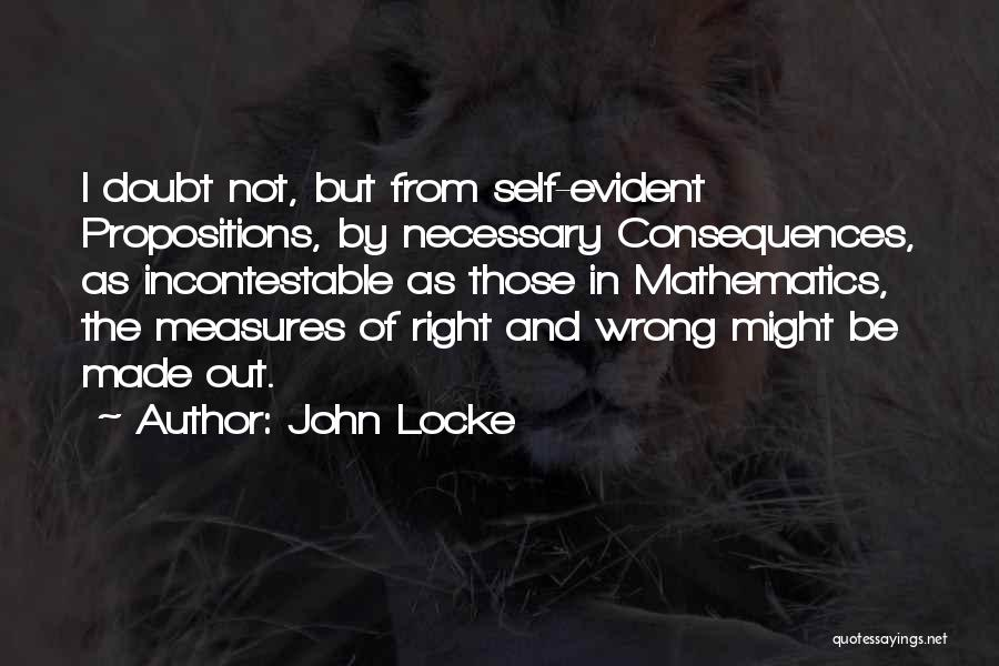 Not In The Wrong Quotes By John Locke