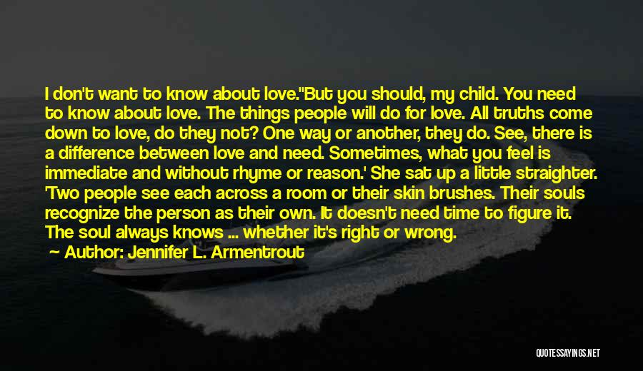 Not Know What You Want Quotes By Jennifer L. Armentrout