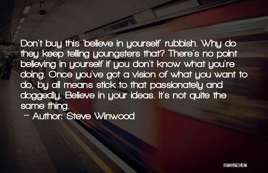 Not Know What You Want Quotes By Steve Winwood