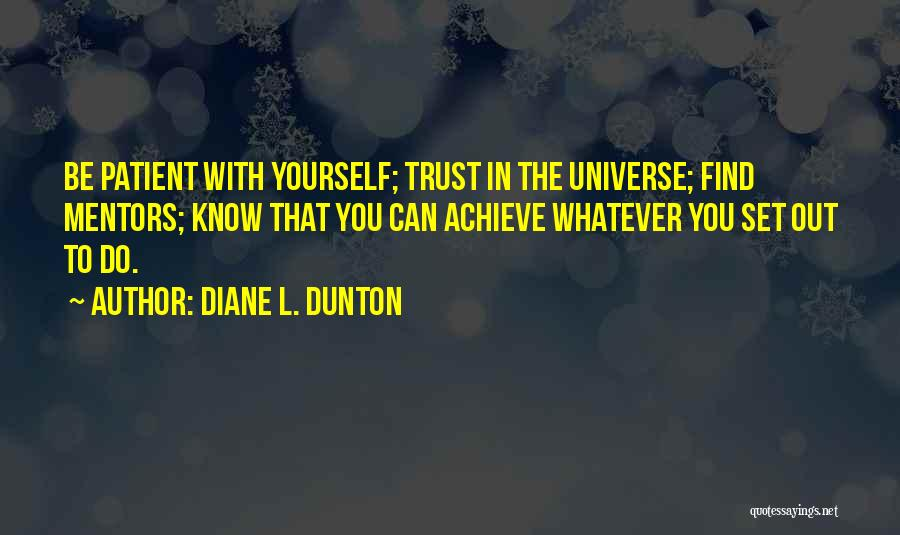 Not Knowing How To Trust Quotes By Diane L. Dunton