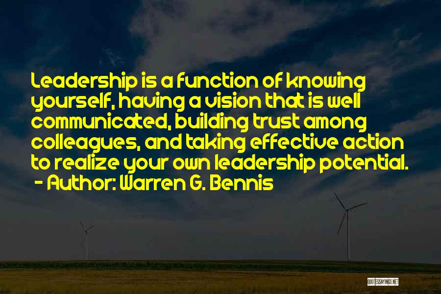 Not Knowing How To Trust Quotes By Warren G. Bennis