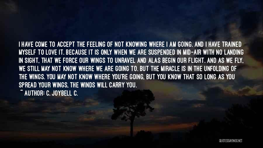 Not Knowing Where You're Going Quotes By C. JoyBell C.
