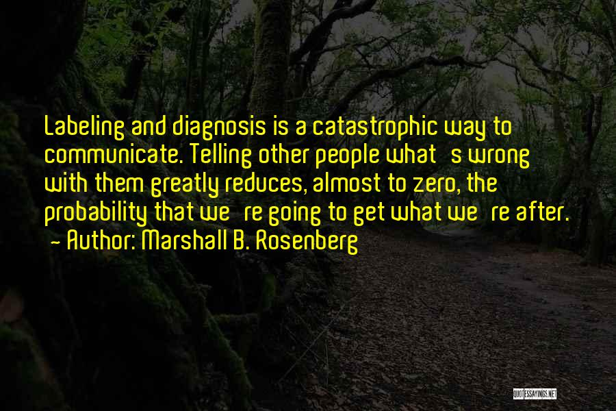 Not Labeling Yourself Quotes By Marshall B. Rosenberg
