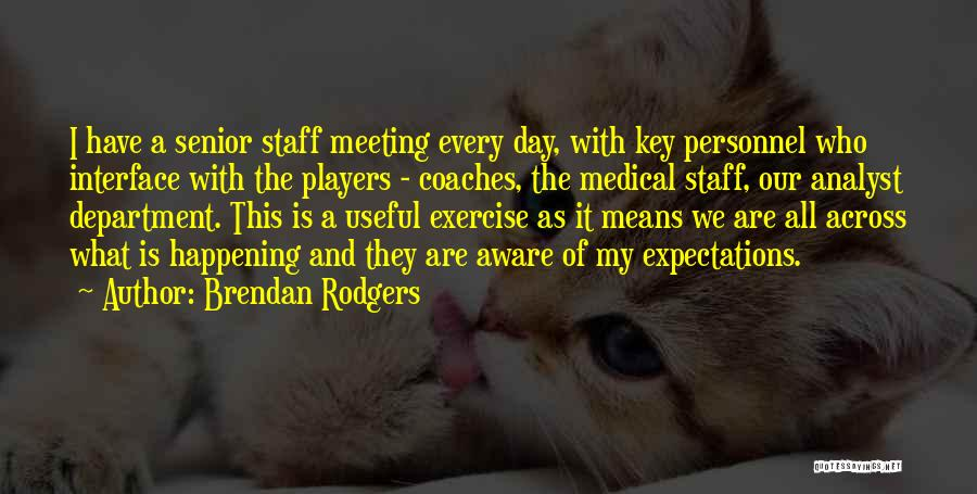 Not Meeting Someone's Expectations Quotes By Brendan Rodgers