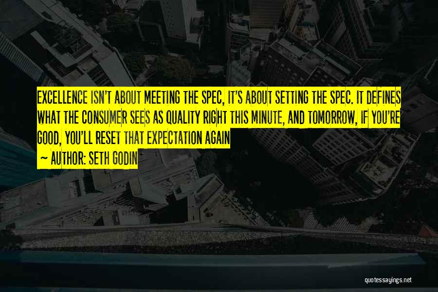 Not Meeting Someone's Expectations Quotes By Seth Godin