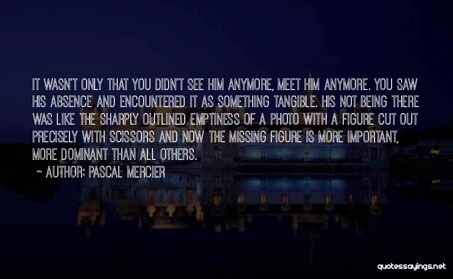 Not Missing You Anymore Quotes By Pascal Mercier