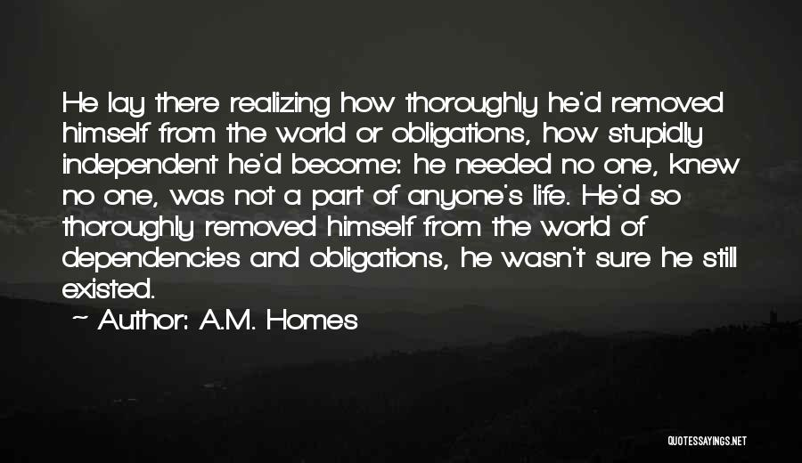 Not Needed Quotes By A.M. Homes