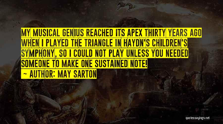 Not Needed Quotes By May Sarton