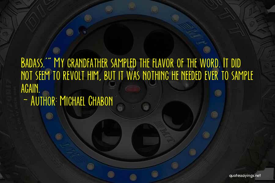 Not Needed Quotes By Michael Chabon