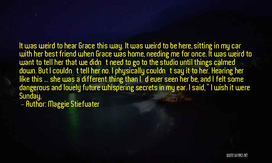 Not Needing A Best Friend Quotes By Maggie Stiefvater