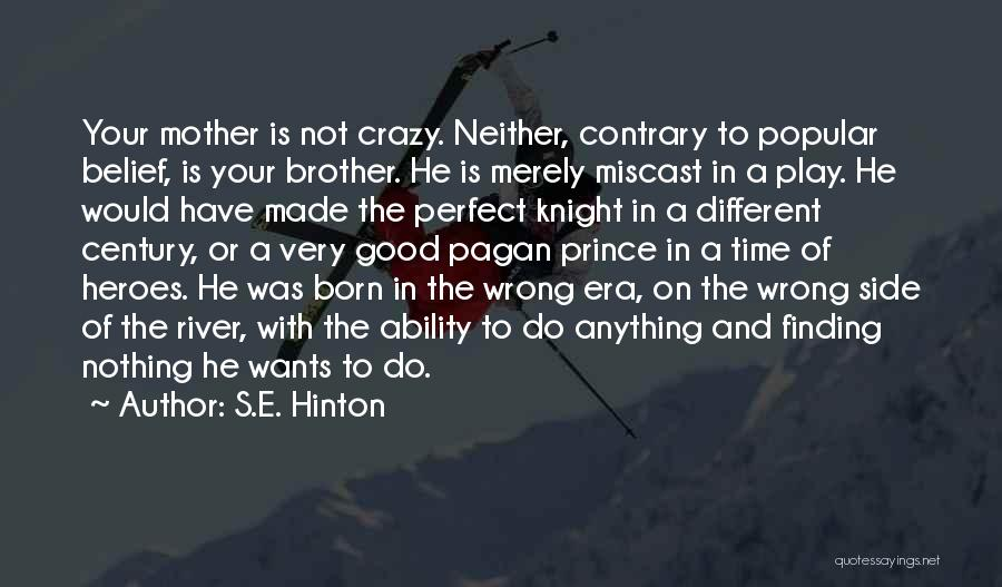 Not Perfect Mother Quotes By S.E. Hinton
