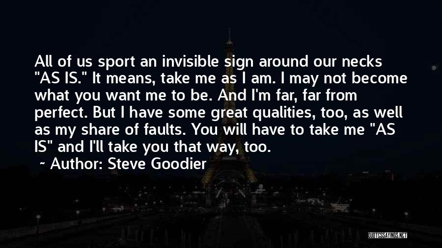 Not Perfect Relationships Quotes By Steve Goodier