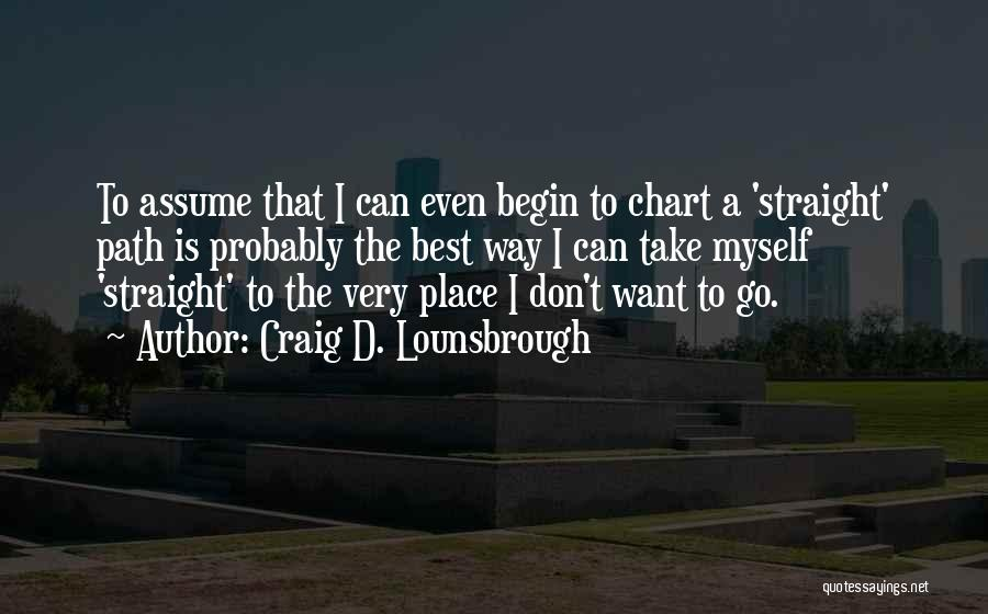 Not Planning Your Life Quotes By Craig D. Lounsbrough